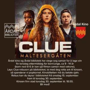 CLUE film + Løys REBUS = Vinn POPCORN! (Kino+bibliotek=sant)
